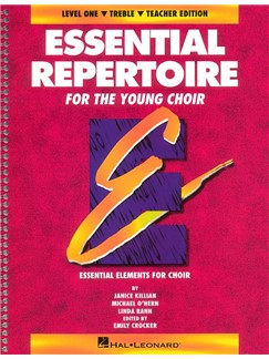 Essential Repertoire For The Young Choir Level 1 - Treble Teacher's Book Books | Treble