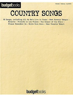 Budgetbooks: Country Songs Books | Piano, Vocal & Guitar