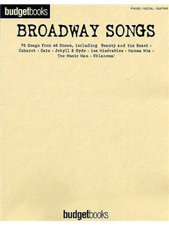 Budgetbooks: Broadway Songs (PVG) Libro | Piano, Voz y Guitarra