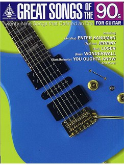 Great Songs Of The 90s For Guitar - Guitar Recorded Versions Books | Guitar Tab, Melody Line, Lyrics & Chords (with Chord Symbols)