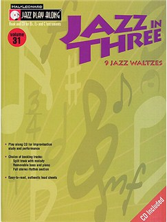 Jazz Play Along: Volume 31 - Jazz In Three Books and CDs | B Flat Instruments, C Instruments, E Flat Instruments