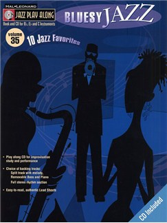 Jazz Play Along: Volume 35 - Bluesy Jazz Books and CDs | B Flat Instruments, C Instruments, E Flat Instruments