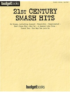 Budgetbooks: 21st Century Smash Hits Books | Piano, Vocal & Guitar (with Chord Boxes)