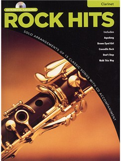 Rock Hits Instrumental Playalong: Clarinet CD et Livre | Clarinette