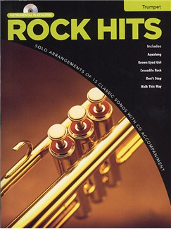 Rock Hits Instrumental Playalong: Trumpet Books and CDs | Trumpet