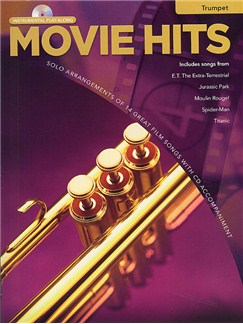 Movie Hits Instrumental Playalong: Trumpet Books and CDs | Trumpet