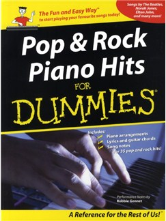 Pop And Rock Piano Hits For Dummies Books | Piano, Vocal & Guitar (with Chord Boxes)