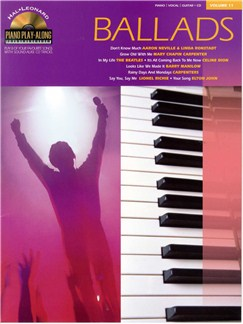 Piano Play-Along Volume 11: Ballads Books and CDs | Piano, Vocal & Guitar