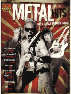 Guitar Play-Along Volume 35: Metal Hits (Book And CD) Books and CDs | Guitar Tab
