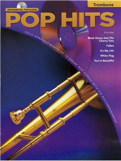 Instrumental Play-Along: Pop Hits (Trombone) Books and CDs | Trombone