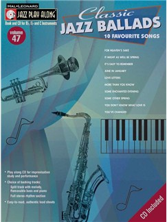 Jazz Play Along: Volume 47 - Classic Jazz Ballads Books and CDs | All Instruments