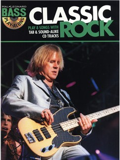 Hal Leonard Bass Play-Along: Classic Rock Books and CDs | Bass Guitar Tab, Voice
