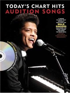 Audition Songs For Male Singers: Today's Chart Hits Books and CDs | Piano, Vocal & Guitar