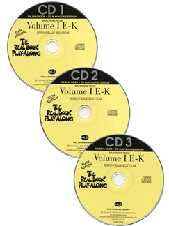 The Real Book Playalong Sixth Edition - Volume 1 E-K (3 CDs) CDs | C Instruments, E Flat Instruments, B Flat Instruments, Bass Clef Instruments
