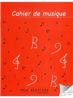 Cahier De Musique À 12 Portées  | Tous Les Instruments
