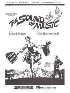 The Sound Of Music: My Favourite Things SA Bog | 2-stemmigt kor, Klaverakkompagnement, Kor