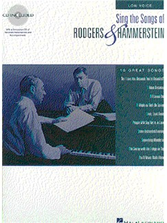 Sing The Songs Of Rodgers And Hammerstein: Low Voice Books and CDs | Voice, Piano