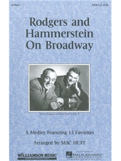 Rodgers And Hammerstein On Broadway (SATB) Books | Soprano, Alto, Tenor, Bass, Piano