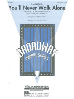 Richard Rodgers: You'll Never Walk Alone (Carousel) - arr. Mann (SATB) Books | Soprano, Alto, Tenor, Bass, Piano