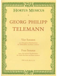 Georg Philipp Telemann: Four Sonatas (The Faithful Music Master) Books | Alto (Treble) Recorder, Continuo