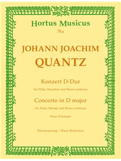 J. J. Quantz: Concerto For Flute In D Major - Pour Potsdam (Flute And Piano) Books | Flute, Piano Accompaniment