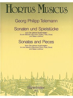 Georg Philipp Telemann: Sonatas And Pieces (Der getreue Musikmeister) Books | Flute, Oboe, Violin, Alto (Treble) Recorder, Continuo