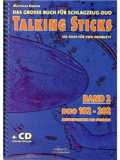Matthias Krohn: Talking Sticks Band 2 (German) Books and CDs | Drums