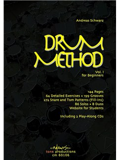 Andreas Schwarz: Drum Method Vol.1 For Beginners (English) Books and CDs | Drums