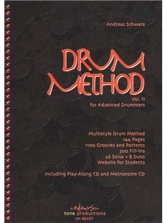 Andreas Schwarz: Drum Method Vol.2 For Advanced Drummers (English) Books and CDs | Drums