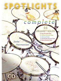 Sönke Herrmannsen: Spotlights Complete - 44 Drumset Solos Books and CDs | Drums