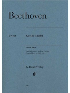 Ludwig Van Beethoven: Goethe Songs Books | High Voice, Piano Accompaniment