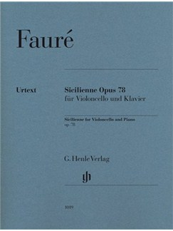 Gabriel Fauré: Sicilienne Op.78 Books | Cello, Piano Accompaniment