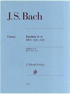 J.S. Bach: Partitas 4-6 BWV 828-830 (Urtext) Books | Piano