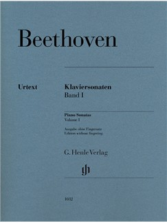 Ludwig Van Beethoven: Piano Sonatas, Volume I Books | Piano