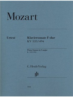 W.A. Mozart: Sonata In F K.533/494 Books | Piano