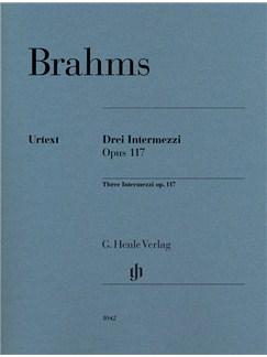 Johannes Brahms: 3 Intermezzi Op. 117 Books | Piano
