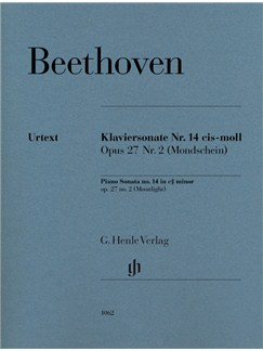 Ludwig Van Beethoven: Piano Sonata No.14 In C Sharp Minor Op.27 No.2 (Moonlight) - Urtext Books | Piano