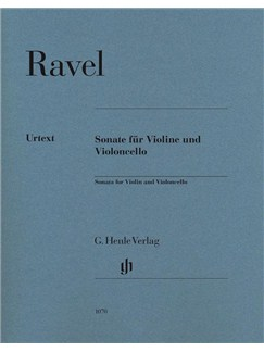 Maurice Ravel: Sonata For Violin And Violoncello Books | Violin, Cello