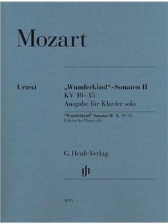 "Wolfgang Amadeus Mozart: ""Wunderkind"" Sonatas Volume II K.10-15 - Piano Solo Books | Piano"
