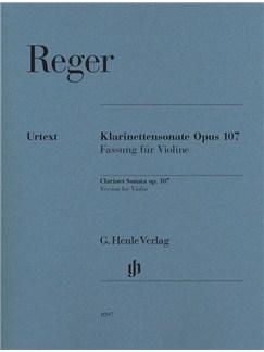Max Reger: Clarinet Sonata Op.107 - Version For Violin (Urtext) Books | Violin, Piano Accompaniment
