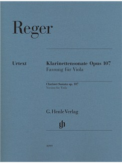 Max Reger: Clarinet Sonata Op.107 - Version For Viola (Urtext) Books | Viola, Piano Accompaniment