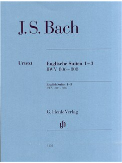 J.S. Bach: English Suites 1-3 BWV 806-808 Books | Piano