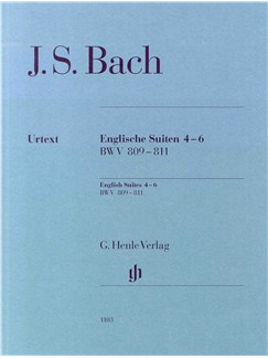 J.S. Bach: English Suites 4-6 BWV 809-811 Books | Piano
