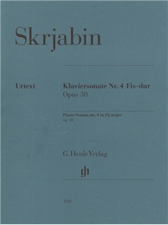 Alexander Skrjabin: Piano Sonata No. 4 In F Sharp Op. 30 Books | Piano