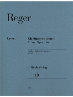 Max Reger: Clarinet Quintet In A, Op. 146 Books | Clarinet, String Quartet