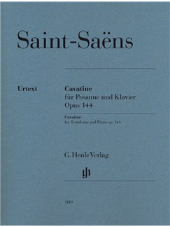 Camille Saint-Saëns: Cavatine Op.144 Books | Trombone, Piano Accompaniment