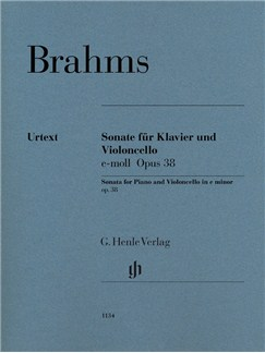 Johannes Brahms: Sonata In E Minor Op. 38 Books | Cello, Piano Accompaniment