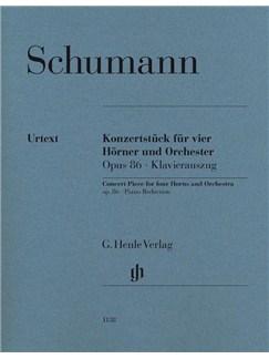 Robert Schumann: Concert Piece For Four Horns And Orchestra Op.86 (Piano Reduction) Books | French Horn (Quartet), Piano Accompaniment (Quartet)