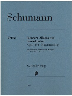 Schumann: Introduction And Concert Allegro Op.134 Piano Reduction Books | Piano (Duet)