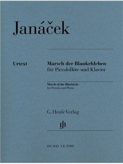 Leos Janácek: March Of The Bluebirds For Piccolo And Piano Books | Piccolo, Piano Accompaniment